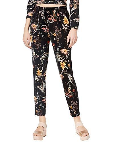 Bar III Women's Floral-Print Sweatpants (Deep Black, X-Small) from Bar III