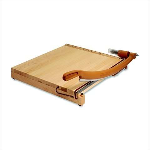 Quartet 032703 Classic Cut Ingento Swingline Heavy Duty Self-Sharpening Steel Blade Hardwood Handle Paper Cutter - 15 Sheets44; 30 In. Cut44; 31 x 30.25 x 0.75 In. - Maple by Quartet