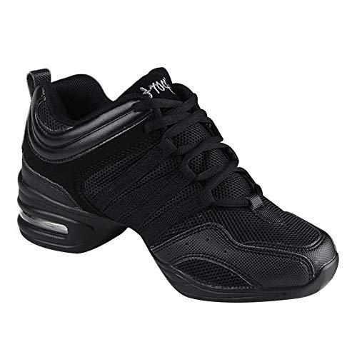 À les De Scène Gym Antidérapant Sont Femme Noir Plus Sport Huatime Sneakers Mode Respirant Chaussures Baskets Latin Moderne Danse Maille Lacets Jazz Détente Petites nXqwSwAH