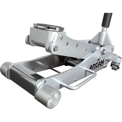 Arcan ALJ3T, Aluminum Floor Jack, 3 Ton Capacity, Lightweight, Dual Pump Pistons, Reinforced Lift Arms, Side Mount, 2 Piece Handle, Vehicle Protection, Bypass and Overload Valves, Meets ASME PASE-2014 Safety Standard
