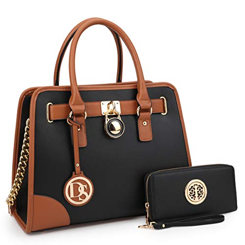 Multi Pockets Satchel for Women Designer Lady Handbags and Purses Wallets Tote Work Briefcase