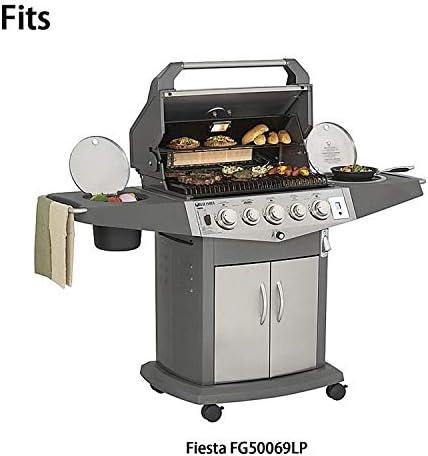 Vicool Hyg569 C (3 Pack) Grille en fonte, grilles de cuisson de remplacement pour Fiesta modèles de grill à gaz Blue Ember Fg50069lp, Fg50069lp,