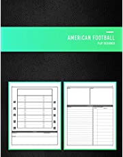 American Football Play Designer: Playbook notebook for junior and senior gridiron coaches, coaching staff and playmakers   Draw, create and record you newest foot ball plays   Black book cover