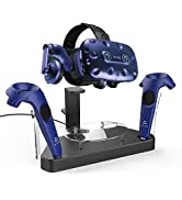 AFAITH Upgraded Charger for HTC Vive Pro or Vive Headset and Controller, Multifunction Contact Ch...