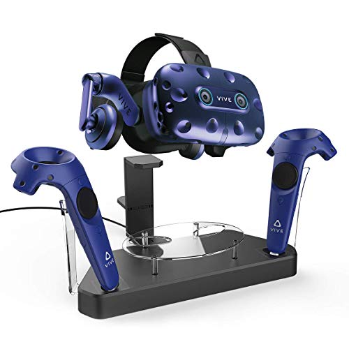 AFAITH Upgraded Charger for HTC Vive Pro or Vive Headset and Controller, Multifunction Magnetic Charging Station, VR Stand Holder Support Firmware Upgrade (Best Headset For Htc Vive)