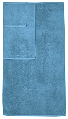 AmazonBasics Quick-Dry 3-Piece Towel Set, Lake Blue