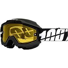 100% unisex-adult Goggle (Black/Yellow,One Size) (ACCURI SNOW ACC SNOW Black / Yellow Lens)