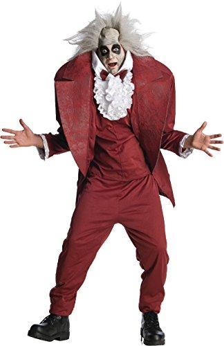 [Shrunken Head Mens BeetleJuice Costume sz XL] (Beetlejuice Costume Mens)