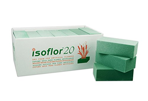 20 unds. ISOFLOR Caja De Esponjas Para Flor Artificial