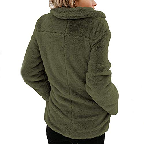 Chaud Cardigan Femmes Outerwear Veste Revers Manteau Vert Hooded Sweater Femme Coat ASSKDAN qHAy4Sww