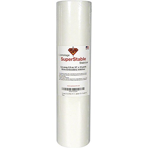 Stabilizer White SuperStable Embroidery Backing