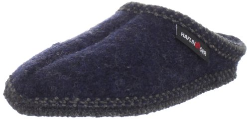 Haflinger AS20 Slipper,Navy,42 EU(Womens 11 / Mens 9) M US
