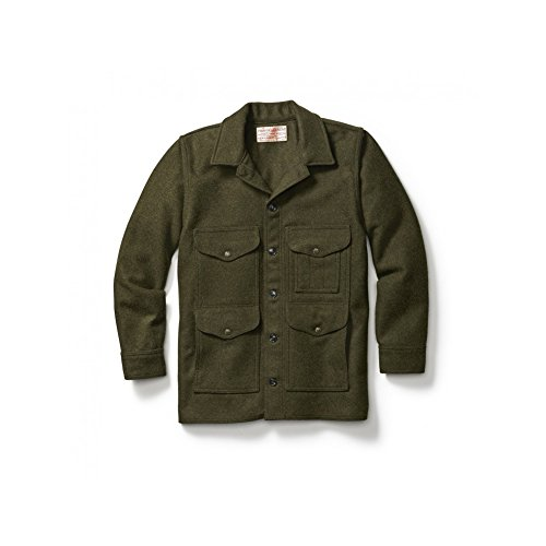 Jacket Cruiser Mackinaw (Filson Men's Mackinaw Cruiser - Alaska Fit - Forest Green - L)