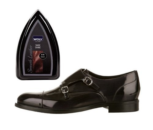 Woly Black Travel Shoe Shine Sponge.Glossy Shine for Designer Shoes. Made in Germany. Small size for travelling. by Woly (Image #4)