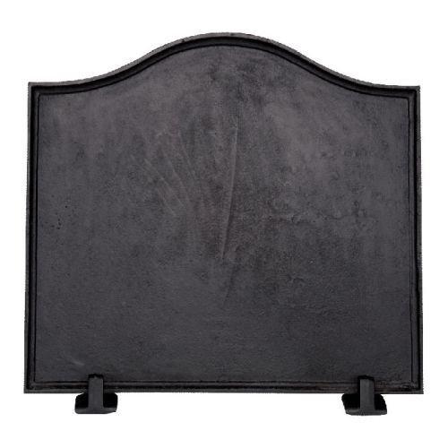 Black Cast Iron Plain Fireback - 16 x 17.5 inch by Shop Chimney