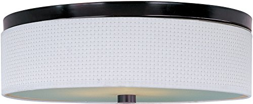 ET2 E95004-100OI Elements 3-Light Flush Mount, Oil Rubbed Bronze Finish, Glass, MB Incandescent Incandescent Bulb, 100W Max., Dry Safety Rated, 2900K Color Temp., Electronic Low Voltage (ELV) Dimmable, Glass Shade - Elements Oil 100oi