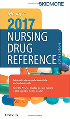 Book Mosby's 2017 Nursing Drug Reference, 30e (SKIDMORE NURSING DRUG REFERENCE)
