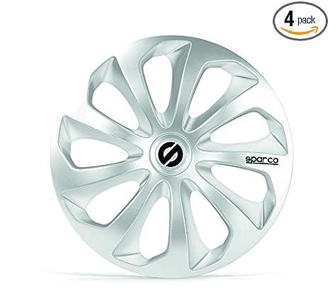 Amazon.com: Sparco SPC1370SV Sicilia Wheel Covers, Silver, Set of 4, 13