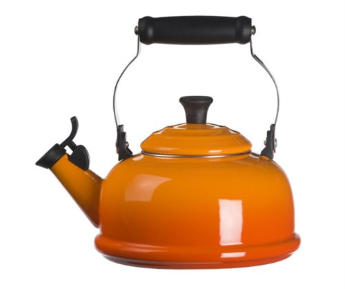 Le Creuset Enamel-on-Steel Whistling 1.7 Quart Teakettle, Flame