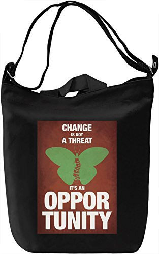 Change is an opportunity Borsa Giornaliera Canvas Canvas Day Bag| 100% Premium Cotton Canvas| DTG Printing|