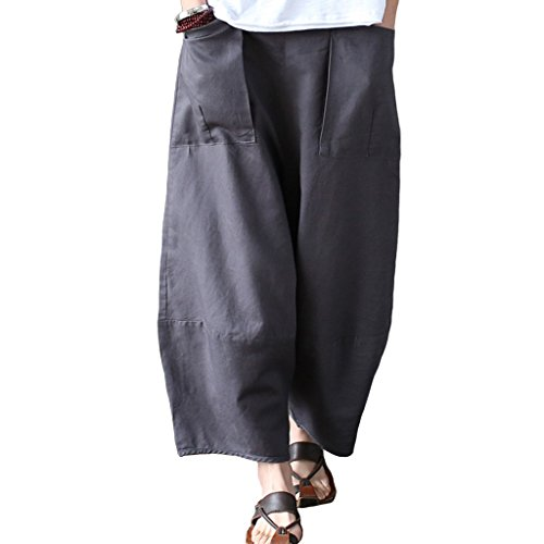 de mujer Aeneontrue Pantalones Aeneontrue Pantalones Algod qZxInwt1