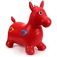 Sajani Inflatable Horse Toy for Kids(RED) (with Pump Free)