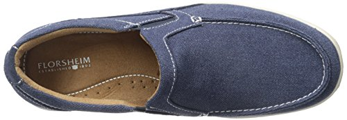 Florsheim Mens Lakeside Moc Toe Slip-on Shoe Navy