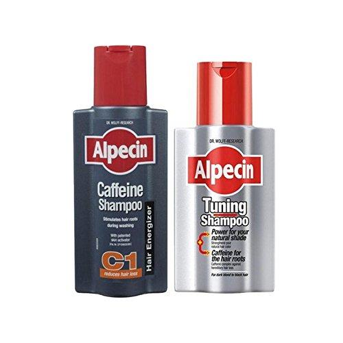 チューニングやカフェインシャンプーデュオ x4 - Alpecin Tuning And Caffeine Shampoo Duo (Pack of 4) [並行輸入品] B07116YKR6