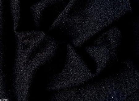 78c92192b43 Black Wool Blend Jersey Knit Fabric by the Yard by Koshtex: Amazon.co.uk:  Kitchen & Home