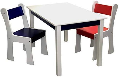 Lätt con XXL Juego de mesa y 2 sillas infantiles de madera MDF en ...