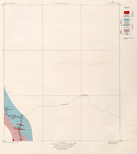 1906 Geologic Atlas | d-5. Tsong-Kia-Pa Sheet. | Antique Vintage Map Reprint