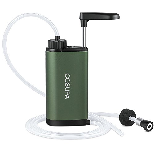 COSUPA Outdoor Water Microfilter, Outdoor Water Filter, Portable & Compact and Durable Water Purifier with Powerful Filtration, Perfect for Hiking, Camping, Climbing or Emergencies