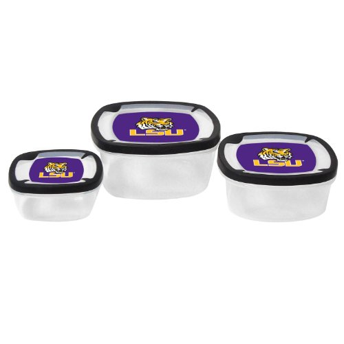 NCAA LSU Tigers Nesting Square Container, (Lsu Tigers Square)