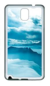 galaxy note 3 case,custom samsung galaxy note 3 case,TPU (Rubbber) Material,Drop Protection,Shock Absorbent,white case,Alpine white clouds beauty