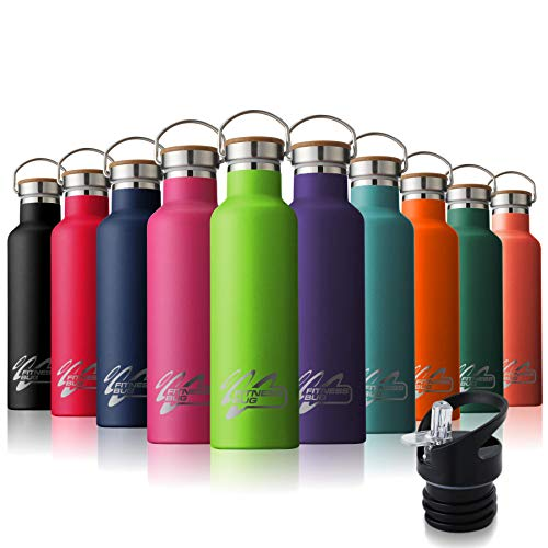 Stainless Steel Water Bottle Sports Gym Metal Flask 26oz for Cold Warm Water