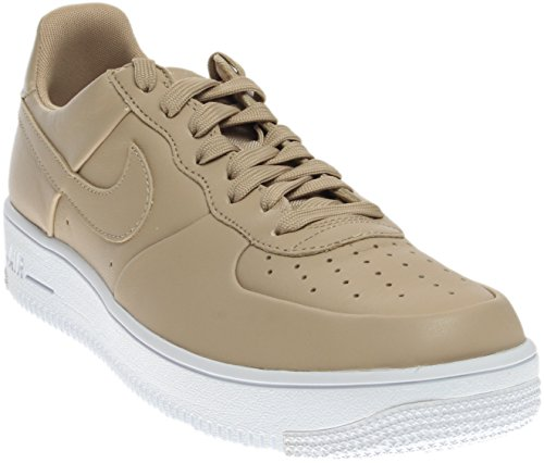 NIKE Herren Air Force 1 Ultraforce Leder Basketballschuh Leinen / Weiß