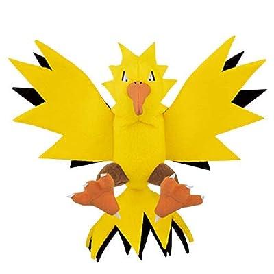 Pokemon Legendary Zapdos Character Big Animal Plush Toy Soft Stuffed Doll: Toys & Games