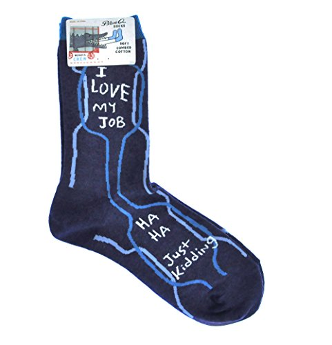 Blue Q I Love My Job Women's Crew Socks size ()
