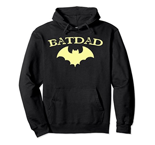 Unisex Batdad Super Hero Proud Dad Novelty Hoodie Costume Gift XL: -