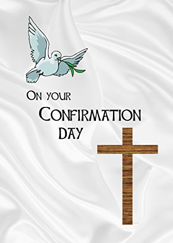 """Confirmation Silver. A beautiful Confirmation card, suitable for a boy or girl. The message inside reads """"With many blessings on this special day"""""""