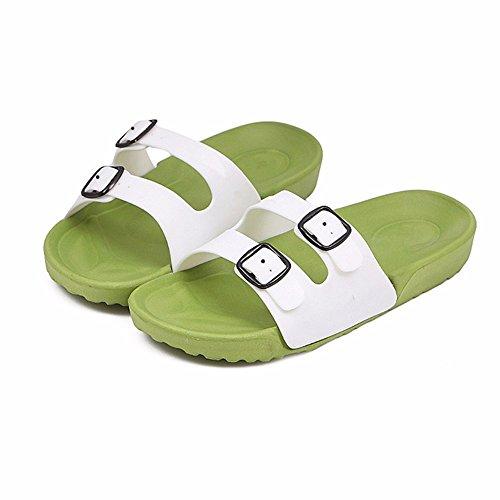 YMFIE Los Amantes de la Nueva Playa de Verano Zapatos de Moda Casual y resbaladiza derrapando pies Piscina Remolque Zapatos b
