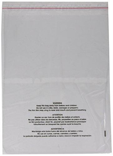 11 x 14 poly bags self seal - 6