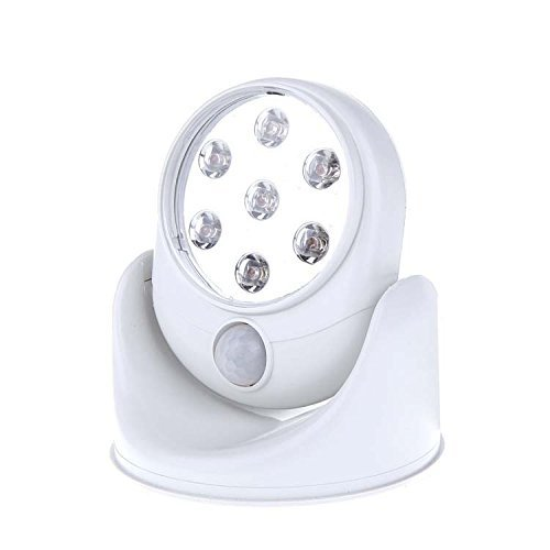 IPUIS Wireless Motion Sensor LED Lights 360°Infrared Motion Activated Sensor Battery-Powered Auto-Sensing Path Cordless Lamp PIR Security Indoor Outdoor Security Light Garden Wall Flood Night Lamp