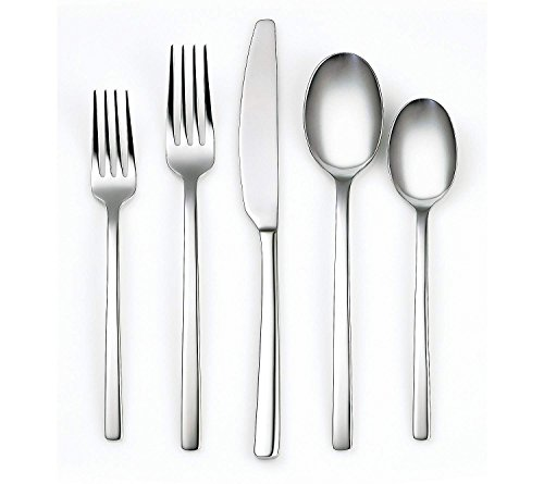 Cambridge Silversmiths 336660OPC12XDS Beacon Mirror 60 Piece Flatware Set, Silver
