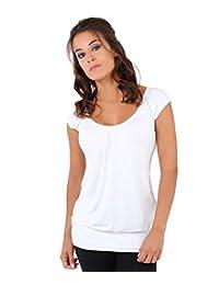 KRISP Women Casual Hip Length T-Shirt Tunic Top Tunic Plus Size 4-22