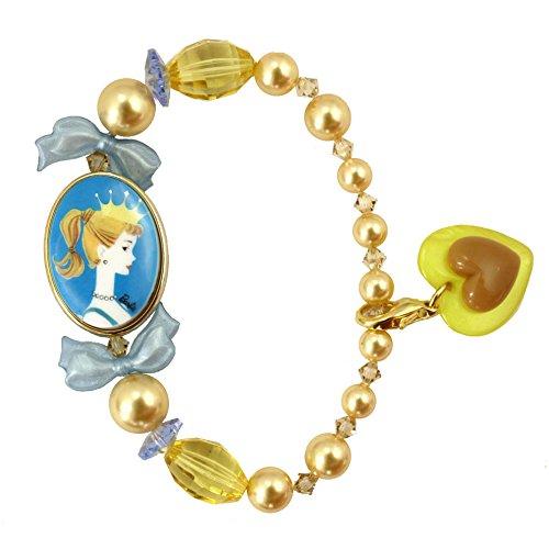 Tarantino Bracelet Cameo Tarina (Tarina Tarantino Barbie Pearl Crystal Bracelet (Gold))