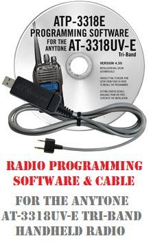 Anytone AT-3318UV Series Two-Way Radio Programming Software & Cable Kit by RF Gear 2 Go