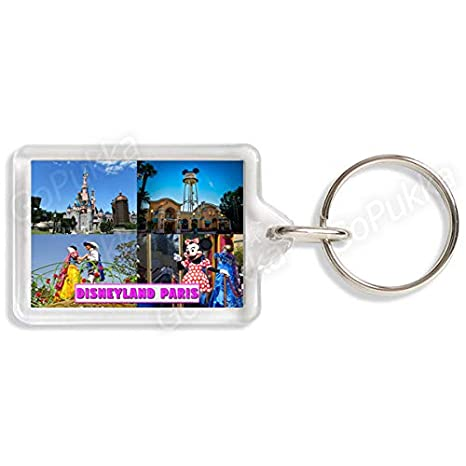Amazon.com: Disneyland Paris France - Llavero de recuerdo de ...