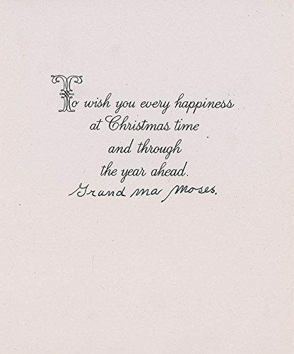 Grandma Moses - Christmas/Holiday Card Signed (Grandma Moses Christmas Cards)