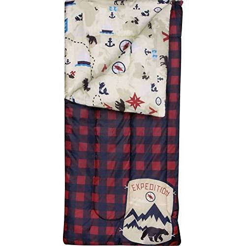 Ozark-Trail Kids Sleeping Bag Camping Indoor Outoor Traveling (Raccoon / Bear) (Blue, (Sleeping Bags Kids)